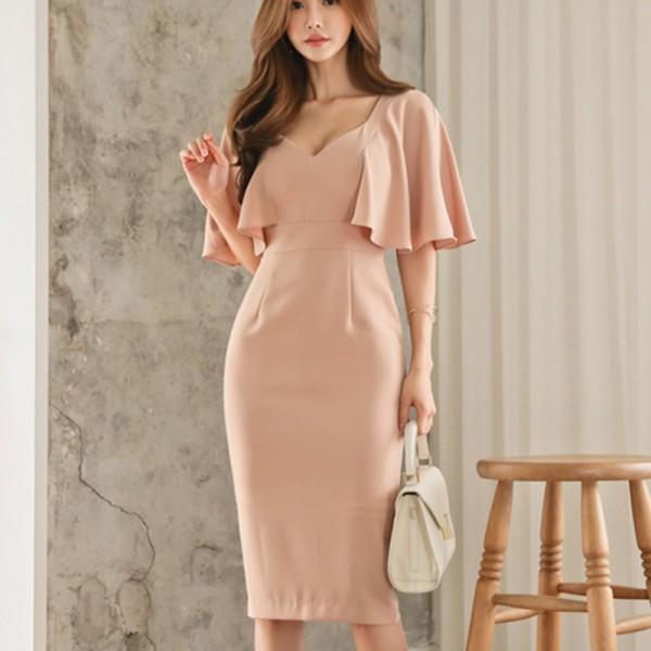 春新作 ドレス お呼ばれ 二次会 ワンピース 結婚式 パーティードレス かわいい フォーマル 1301
