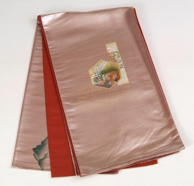 【正絹袋帯】 訳あり廃業品 仕立て代サービス