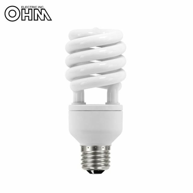 送料無料OHM 電球形蛍光灯 スパイラル形 E26 100形相当 電球色 エコデンキュウ 2個入 EFD25EL/18-SP-2P長時間 100w 電気