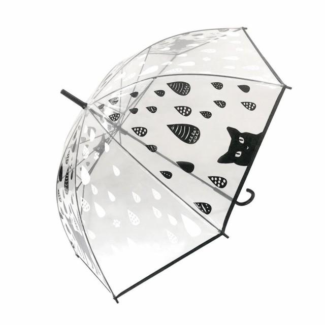 【送料無料】Abeille ビニール傘(黒猫) レイン APUM-1301「他の商品と同梱/北海道、沖縄、離島別途送料」