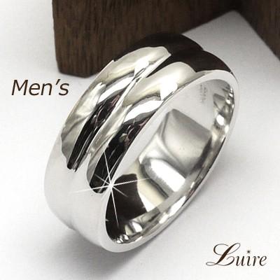 品質は非常に良い 指輪 メンズリング 甲丸地金リング 結婚指輪 プラチナ900 8mm (リュイール)Luire 幅広-指輪・リング
