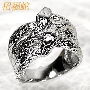 セットアップ スネーク 縁起物ダイヤモンド 金運アップ★ プラチナ900 (リュイール)Luire 蛇 リング-指輪・リング