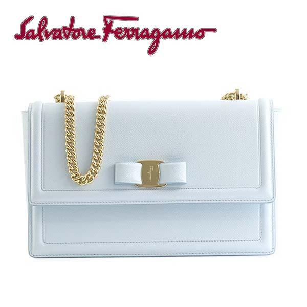 【送料無料】サルバトーレフェラガモ Salvatore Ferragamo ショルダーバッグ [21G462-683900/PALE BLUE]