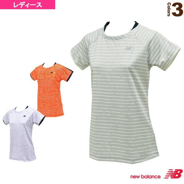4b0615374595 [ニューバランス ウェア(レディース)]レイヤード風ゲームシャツ/レディース(JWTT7026)