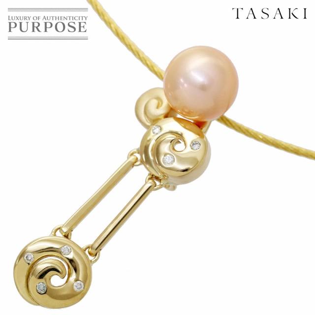 【ふるさと割】 タサキ TASAKI 淡水真珠 8.6mm ダイヤ 0.04ct ネックレス 41cm K18YG 18金イエローゴールド 750 田崎真珠 90080524 【】BJ, 児湯郡 31747a24