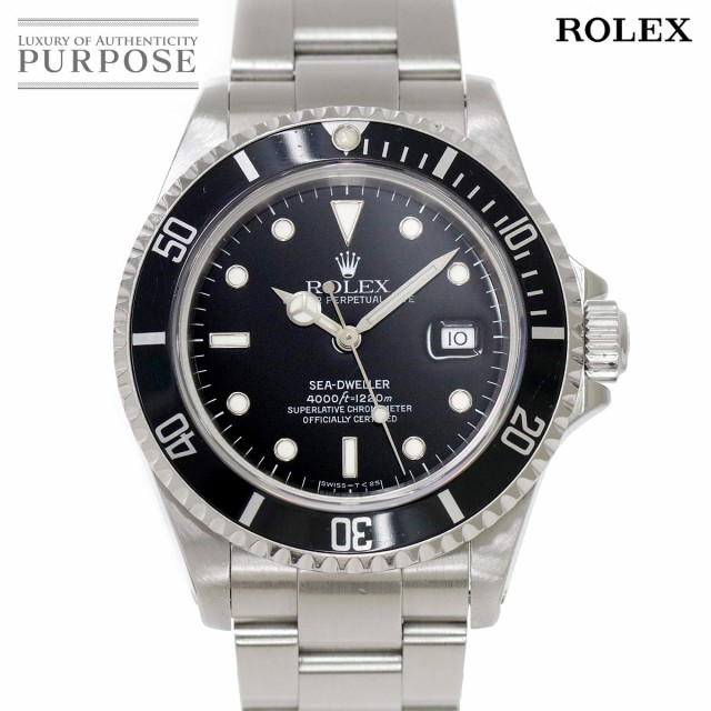 上品 ロレックス シードゥエラー 16600 S番 メンズ 腕時計 デイト ブラック 文字盤 オートマ 自動巻き ウォッチ 90089756 【】時計, ユーキャン通販ショップ 553c7dea