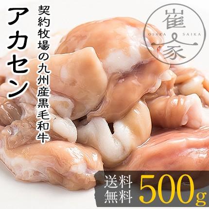 アカセン 500g(100g×5袋) ギアラ 黒毛和牛モツ ホルモン もつ鍋専門店