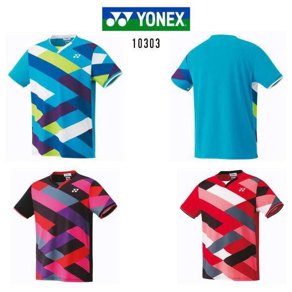fac0acc34b3510 ヨネックス ゲームシャツ フィットスタイル ブライトブルー ブラック サンセットレッド M L O 10303