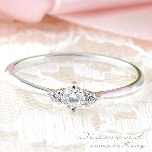 【即発送可能】 【送料無料】ダイヤモンドリング 指輪 k18 ダイヤモンドリング ピンキーリング エンゲージリン, 千々石町 fa675ba9