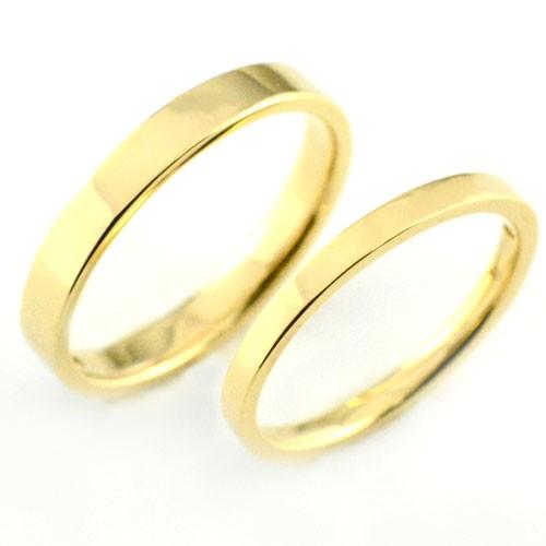 【全品送料無料】 【送料無料】ペアリング 18k マリッジリング 18k 指輪 平ウチ イエローゴールド K18 記念日 記念日 指輪 婚約, 八束郡:84562149 --- oeko-landbau-beratung.de