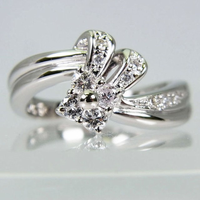 正規店仕入れの ダイヤモンド 【】Pt900 リング 11.5号[f455-2]-指輪・リング