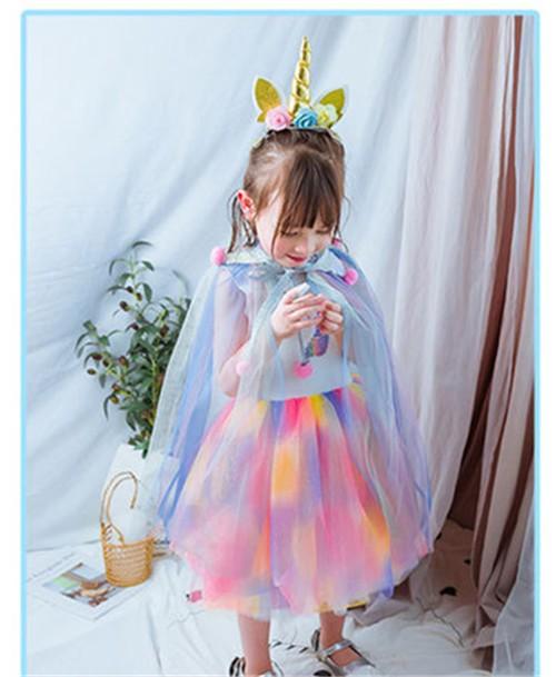 3925dd01f5c43 AD119ディズニープリンセス 子供用ドレス キッズ ソフィア ユニコーン なりきりワンピース ユニコーン 子どもドレス