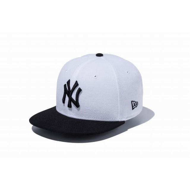 ニューエラ NEWERA Youth 9FIFTY 子供 ニューヨーク・ヤンキース ホワイト × ブラック ブラックバイザー