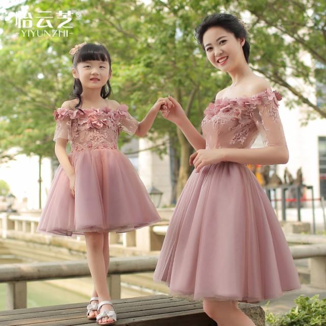 ママ+キッズ 結婚式ドレス 親子お揃い 親子リンクコーデ ワンランク上の着こなしはこの一着で!韓国子供服の通販はWowma!(ワウマ) ,  Bouquet de coton|商品ロット