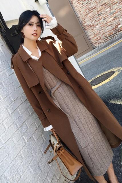 アウター レディース コート レディースアイテム ロングトレンチ 韓国 ファッション 大人 インスタ映え オシャレ着