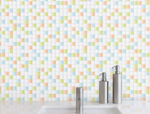 壁紙シール タイル模様 HWP-21637はがせる壁紙 壁紙シール のり シール 壁紙 ウォールステッカー 北欧 ウォールステッカー
