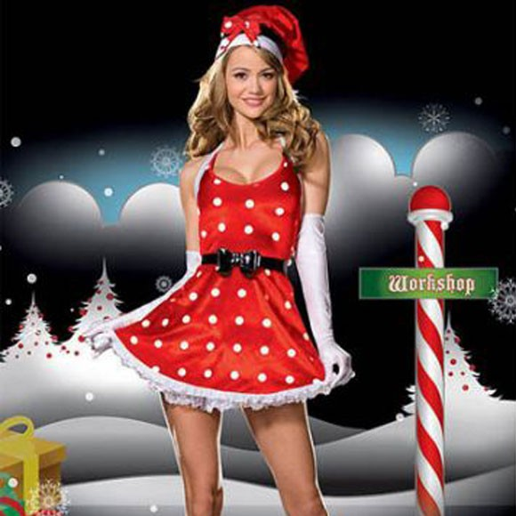 【サンタ クリスマス コスプレ】 レディースサンタクロース フリー 女性用【yy7001】【送料無料】 サンタ サンタクロース 衣装 仮装 クリ