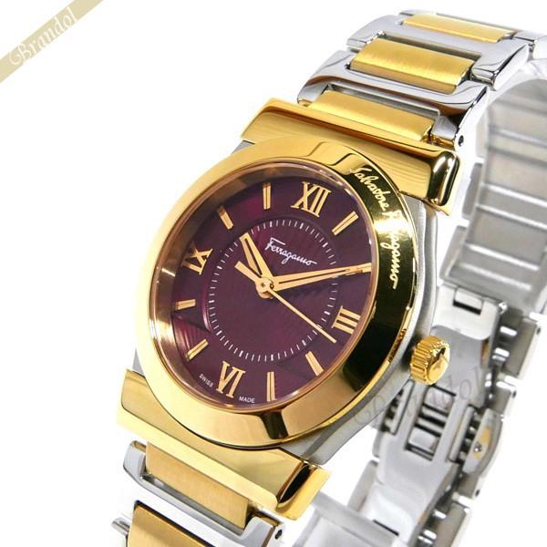 お気にいる フェラガモ Ferragamo Ferragamo 32mm VEGA レディース腕時計 VEGA 32mm ボルドー×ゴールド FI1030015, 稲敷郡:a9442d20 --- schongauer-volksfest.de