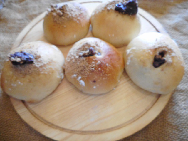 北海道産小麦粉と有機オーガニック甘さ控えめの粒あんパン5個セット