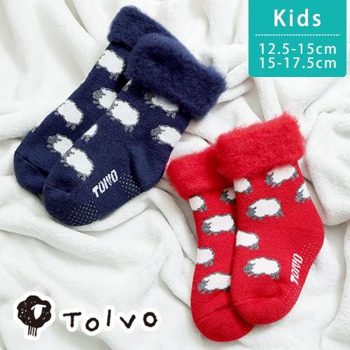 50fbce05f4613 ルームソックス TOIVO トイヴォ もこもこソックス シープ キッズ 15-17.5cm モコモコ 靴下 子供用