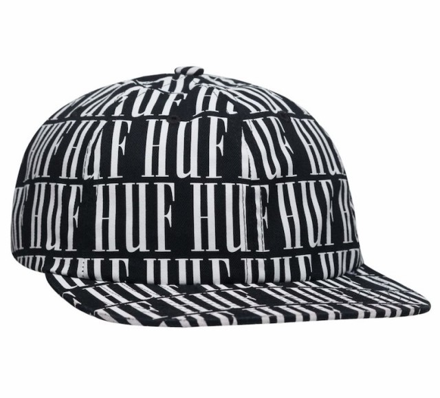 HUF Night Market 6 Panel Hat Cap Black キャップ 送料無料