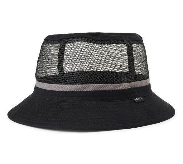 Brixton Hardy Bucket Hat Black/Grey L ハット 送料無料