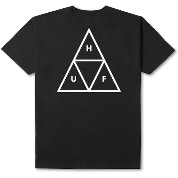 huf triple triangle t shirt black l tシャツ 送料無料の通販はwowma