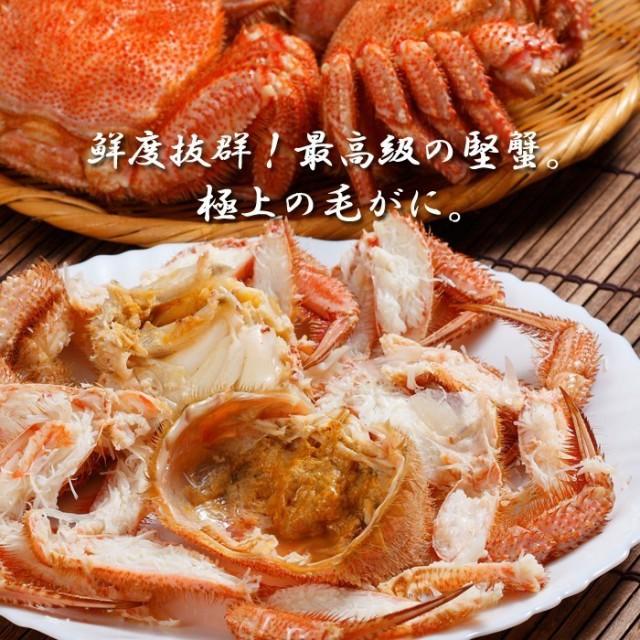 [かに 蟹]毛ガニ特大(毛蟹 数量限定 最高級 北海道産)480g×2尾 送料無料 お歳暮