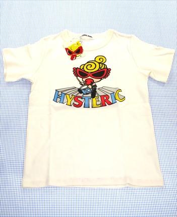 b50ea562960a4 ヒステリックミニ HYSTERIC mini Tシャツ 半袖 130cm 白系 新品 キッズ トップス 男の子 女の子 子供服