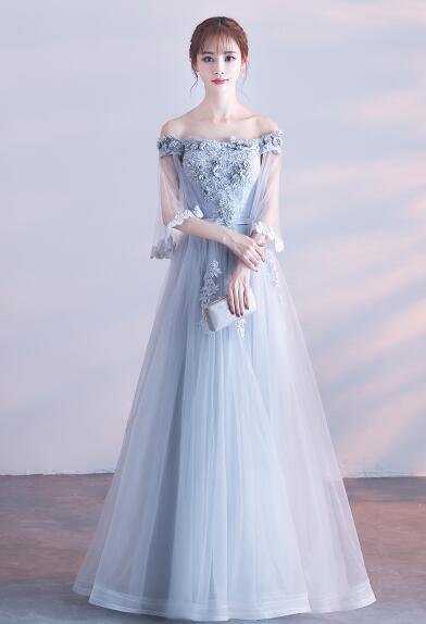 d49e62dd0ae73 パーティードレス ウエディングドレス オフショルダー 花柄 二次会 結婚式 披露宴 司会者 舞台衣装