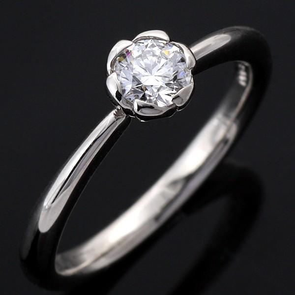 特別価格 Pt 婚約指輪・エンゲージリング ソリティア Brand ダイヤモンドデザインリング フラワー AneCan掲載 アニーベル 一粒-その他アクセサリー・ジュエリー