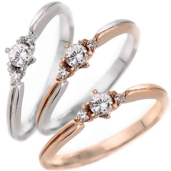 品質が完璧 ダイヤモンド リング 婚約指輪 プラチナ エンゲージリング 一粒 ストレート 18金 K18ピンクゴールド, 古賀市 dc004c33