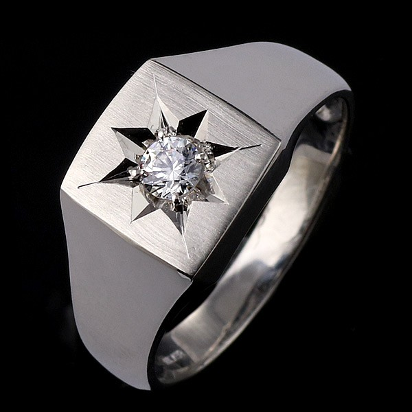 【激安大特価!】  メンズ プラチナ 印台リング 指輪 ダイヤモンド 0.20ct 0.20ct 印台リング 一粒 プラチナ リング 男性用, LEVEL6:985e2f05 --- personnel.pfoten-und-hufe.de