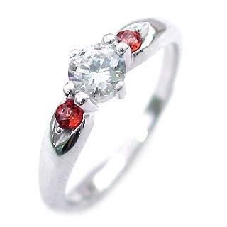 超人気高品質 エンゲージリング リング ダイヤ 0.33ct 婚約指輪 指輪 ダイヤ ダイヤモンド リング ガーネット 人気 プラチナ-指輪・リング