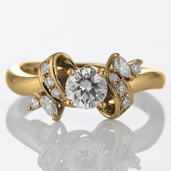 最初の  婚約指輪 ダイヤモンド ダイヤモンド ダイヤ 0.30ct リング エンゲージリング K18イエローゴールド SIクラス SIクラス 0.30ct 鑑定書付, 城東区:f1a39103 --- urban.ballettstudio-gri.de