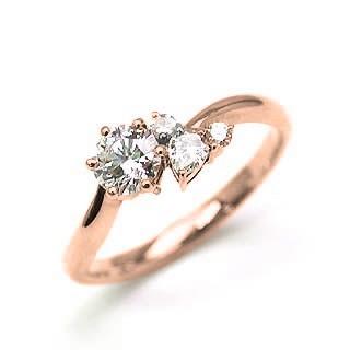 人気特価 婚約指輪 ダイヤモンド ダイヤ リング エンゲージリング K18ピンクゴールド VVS1クラス 0.20ct 鑑定書付, 大割引 e22733fa