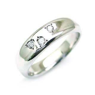 ファッション アニーベル Brand Pt ダイヤモンドペアリング-指輪・リング