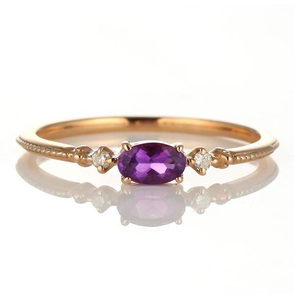 【初回限定お試し価格】 ダイヤモンド 誕生石 2月 リング アメジスト ダイヤモンドリング 指輪 指輪 ピンクゴールド 2月 誕生石, カーペット寝具専門 快適生活館:9b9ea266 --- zafh-spantec.de