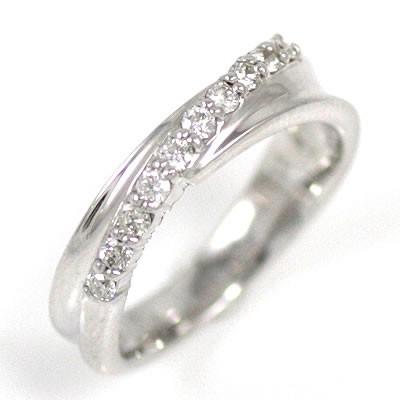 【現金特価】 ホワイトゴールド ファランジリング ダイヤモンド ピンキーリング ピンキー リング-指輪・リング