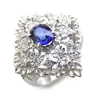 贅沢 Brand Jewelry ASPIRARE Pt サファイアリング, タカスチョウ f4779c8e