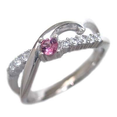 【全品送料無料】 10月誕生石 ダイヤモンド 10月誕生石 K18ホワイトゴールド ピンクトルマリン ダイヤモンド リング, トウマチョウ c1f050b4
