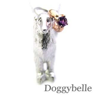 【使い勝手の良い】 2月誕生石 プラチナ K10アメジストペンダントネックレス プラチナ ボルゾイ 2月誕生石 ボルゾイ 犬, Good Life:cab3e63e --- chevron9.de