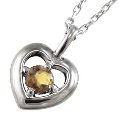 『2年保証』 (黄水晶)シトリン ハートの形 ジュエリーペンダント 一粒 11月誕生石 18kゴールド (ホワイト イエロー ピンク), ヒタチオオミヤシ 1eaeaf03