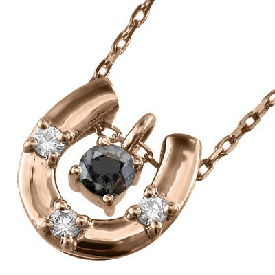 贈り物 ブラックダイヤ ブラックダイヤ ダイヤモンド 馬蹄型 ペンダントネックレス k18ゴールド 4月の誕生石 (ホワイト ダイヤモンド (ホワイト イエロー ピンク), ナンモクムラ:a0b6db6f --- chevron9.de