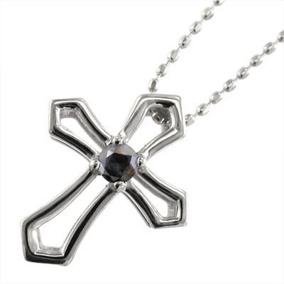 大きな割引 ブラックダイヤ・クロス十字架・一粒石・ペンダントネックレス・プラチナ900・4月の誕生石, 達人のギフト屋さん:1732833b --- kzdic.de