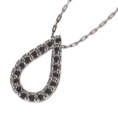 お見舞い ブラックダイアモンド 雫型 チェーンペンダント 雫型 Pt900 Pt900 4月誕生石, SIMONS STORE:20b36cd3 --- kzdic.de