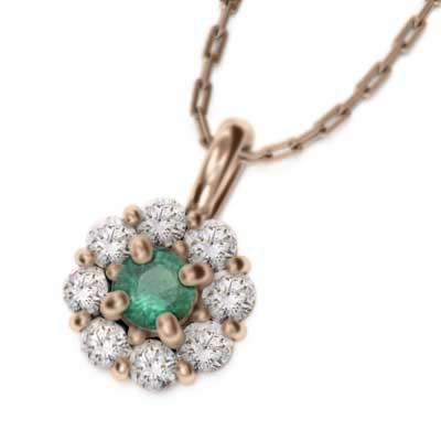 日本初の エメラルド 天然ダイヤモンド ペンダントネックレス 18金ゴールド (ホワイト イエロー ピンク), Zeal Market f0ce62c0