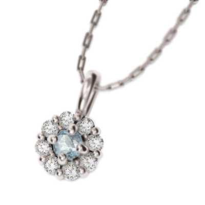 【国内在庫】 ペンダントネックレス アクアマリン 天然ダイヤモンド Pt900, 工具屋のプロ f8d6d75d