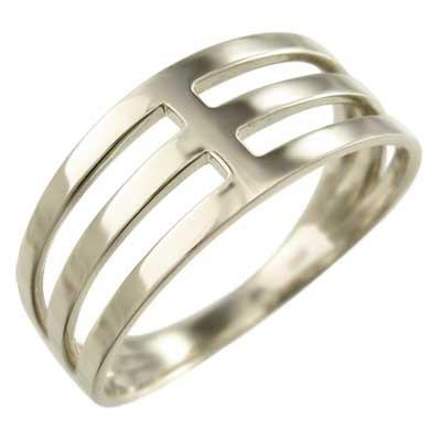 ブランド品専門の 地金 平らな指輪 18金ゴールド 3連 (ホワイト イエロー ピンク), mokomoko神戸 386209a4