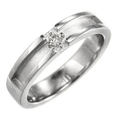大人の上質  イエロー ピンク) 天然ダイヤモンド k10ゴールド (ホワイト 約4mm幅 指輪 小指 4月誕生石 一粒石 平打ち 指輪 クロス-指輪・リング
